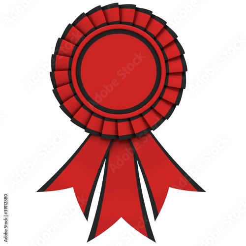 Red Ribbon award with a black border