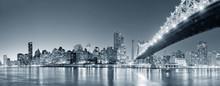 Nowy jork panorama miasta nocą