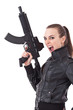 Woman with weapon