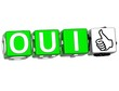 The word Oui - Yes in many different languages.