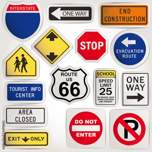 Vector. Blank road signs