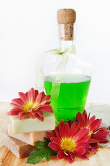 Herbal Shampoo and Soap with Flowers