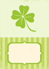 Illustration of clover with four leaves