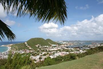 Marigot Harbor in Saint Maartin, Caribbean