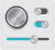 Vector metal dials set