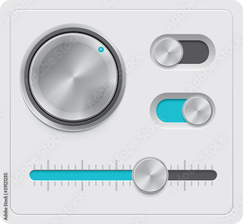 Vector metal dials set