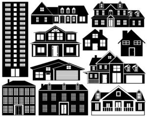 House silhouettes set
