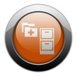 "Orange Metallic Orb Button ""Medical Records"""