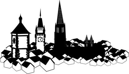 Skyline von Freiburg