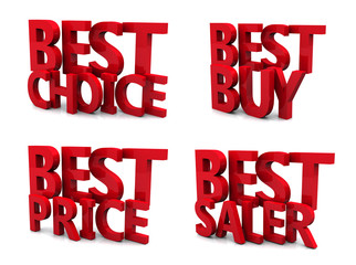 best price 3d isolated over white background
