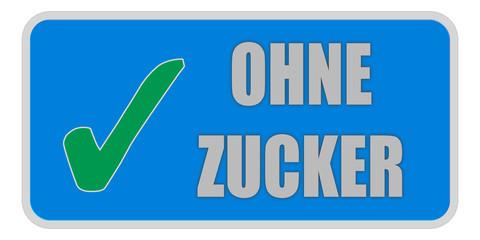 CB-Sticker blau eckig oc OHNE ZUCKER