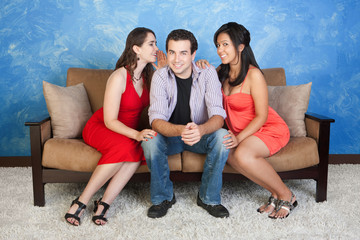 Man with Girlfriends