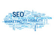 """SEO"" Tag Cloud (search engine optimization traffic visibility)"