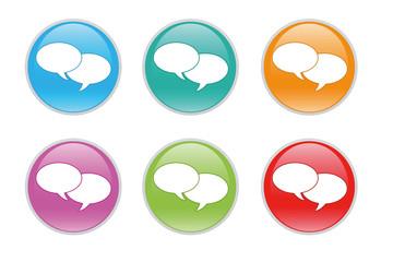 Iconos para web con símbolo de comunicación