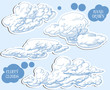 Clouds vector set