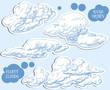Clouds vector set
