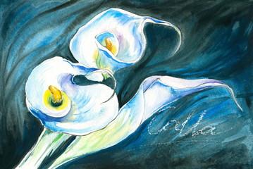 White calla-watercolors
