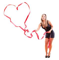 Woman making a heart