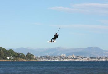 saut en kitesurf