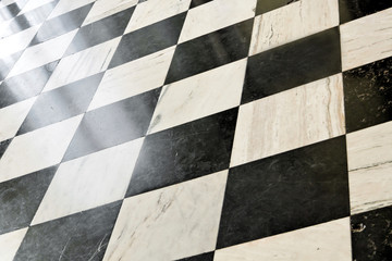 Abstract view of marble floor.
