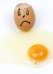 unhappy egg