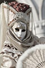 maschera Carnevale Venezia viso bianco