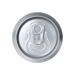 High angle view of aluminum soda can isolated on white