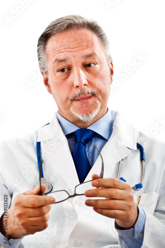 Serious doctor portrait