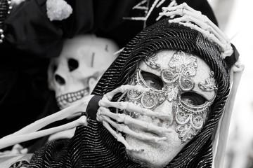 maschera carnevale morte