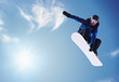 canvas print picture - snowboarding