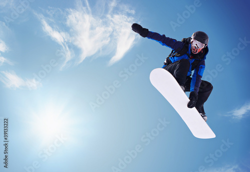 canvas print picture snowboarding