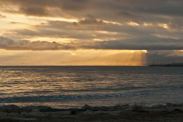 paisaje marino durante el ocaso