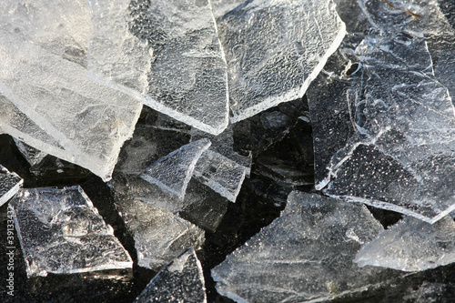 jagged ice formations