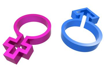 3d male female symbol
