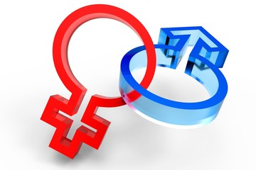 3d male female symbol
