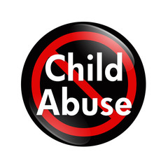 No Child Abuse button