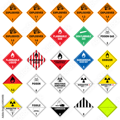 icon set dangerous good II