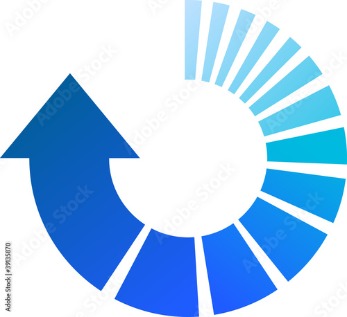 Blue Process Arrow