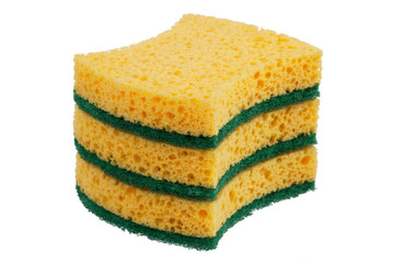 Stack of sponges for washing dishes