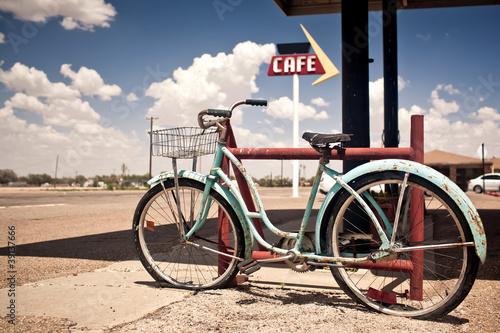 Rusted vintage bike