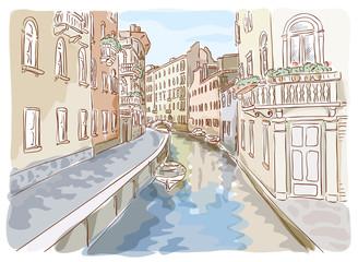 Venice. Watercolor style.