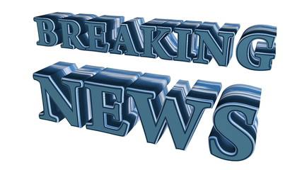 Animated 3D Breaking News text