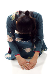 Japanese Woman Bowing