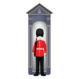 Beefeater soldier guardhouse - London - symbols - detailed