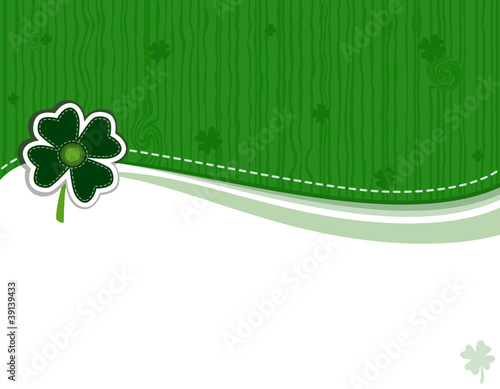 Saint Patrick Day Greeting Card - vector EPS AI8