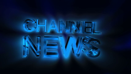 Animated Channel News text with Alpha Channel