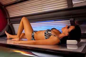 Girl in solarium