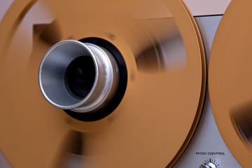 Open Metal Reels WithTape For Professional Sound Recording