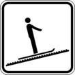 Teppichlift Laufband Skilift Schild Zeichen Symbol