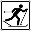 Skilanglauf Skifahrer Schild Zeichen Symbol Sport